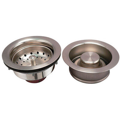 Ace Brushed Brass Strainer Assembly and Disposal Flange Set