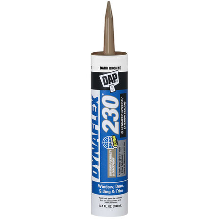 Dap Dynaflex 230 Dark Bronze Silicone Door, Trim and Window Sealant 10.1 oz.