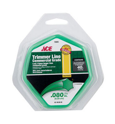 Ace Commercial Trimmer Line 0.080 in. Dia. x 40 ft. L 2 refill