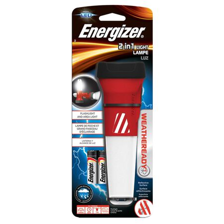 Energizer Weatheready 55 lumens Flashlight LED AA Black & Red