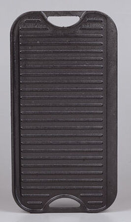 Lodge Logic Pro 10-7/16 in. W Cast Iron Grid Iron Griddle