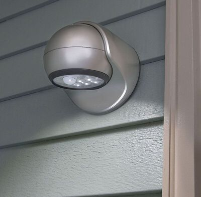Light It Porch Light Plastic Silver Motion-Sensing LED 6 volts
