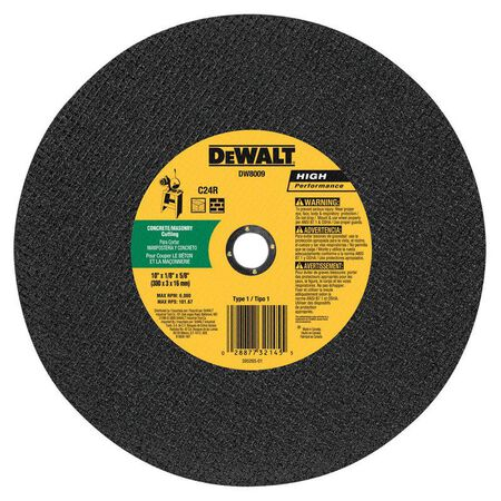 "10"" x 1/8"" x 5/8"" masonry cutting wheel"
