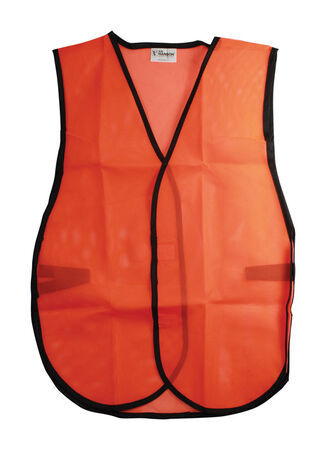 CH Hanson One fits all Orange Polyester mesh Safety Vest