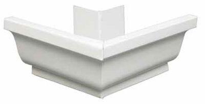 Amerimax 5 L x 7.25 in. W x 5 in. H Aluminum K Outside Miter White
