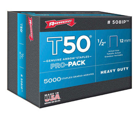 Arrow T50 Wide Heavy Duty Staples Gray 1/2 L
