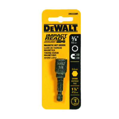 DeWalt Impact Ready Magnetic Tip 3/8 in. x 1-7/8 in. L x 1-7/8 in. L Nut Driver Magnetic
