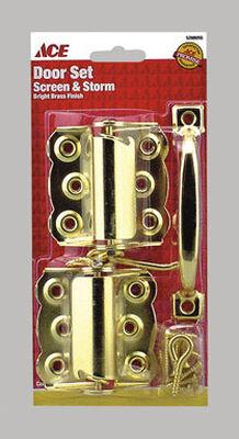 Ace Brass Surface mount Screen/Storm Door Set 2 pk