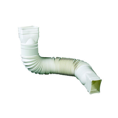 Amerimax Flex-A-Spout 25 in. to 55 in. L x 3 in. W x 4.5 in. H Plastic Downspout Extension White