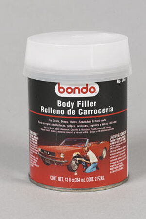 Bondo Auto Body Filler 14 oz. For Metal Wood Masonry & Fiberglass