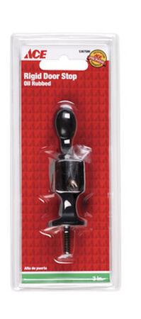 Ace Rigid Door Stop with Holder 3 in. L Oil Rubbed Bronze Black