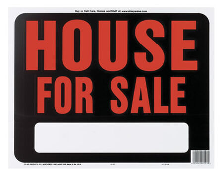 Hy-Ko English 15 in. H x 19 in. W Plastic Sign House for Sale