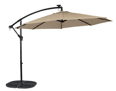 Living Accents Offset 10 ft. Dia. Patio Umbrella Tan
