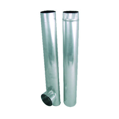 Deflect-O Jordan 4 in. Dia. x 27-48 in. L Dryer Vent Kit Aluminum