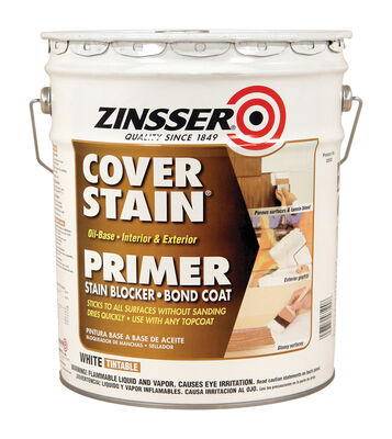 Zinsser Cover Stain Oil-Based Interior and Exterior Primer and Sealer 5 gal. White