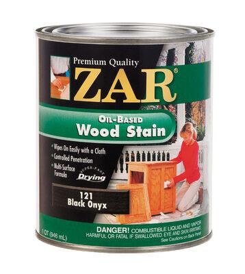 ZAR Semi-Transparent Oil-Based Wood Stain Black Onyx Tintable 1 qt.