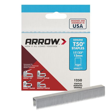 Arrow T50 Wide Heavy Duty Staples Gray 17/32 in. L