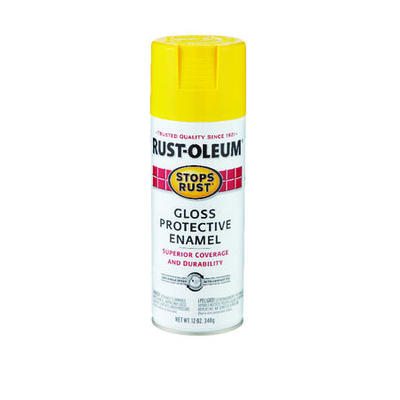 Rust-Oleum Stops Rust Gloss Sunburst Yellow Spray Paint 12 oz.