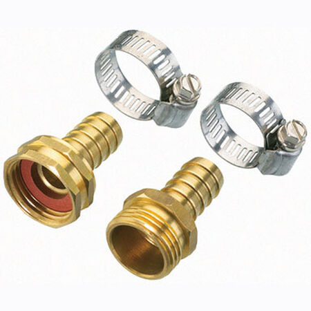 Ace 5/8 in. Metal Clinch Hose Mender Clamp Male/Female Threaded