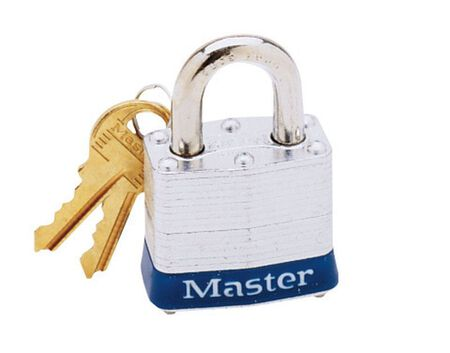 Master Lock 1-9/16 in. 4-Pin Cylinder Laminated Steel Padlock