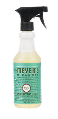 Mrs. Meyer's Basil Multi-Surface Cleaner Spray 16 oz. Liquid For Tile Walls Porcelain Bath Fix