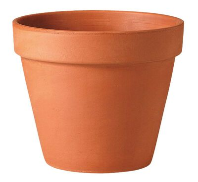 Deroma Terracotta Clay Traditional Planter 10.8 in. H x 12 in. W