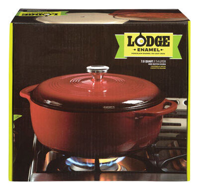 Lodge Stainless steel Dutch Oven Red 7.8