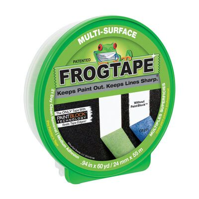 FrogTape 0.94 in. W x 60 yd. L General Purpose Painter's Tape Medium Strength Green 1 pk