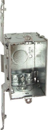 Raco 2 in. H Rectangle 1 Gang Switch Box 1/2 in. Gray Steel