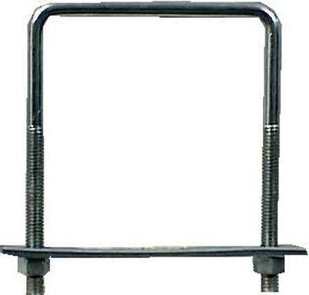 Hampton 4 in. W x 5 in. L Zinc Plated Steel Square Bend U Bolt 10 pk