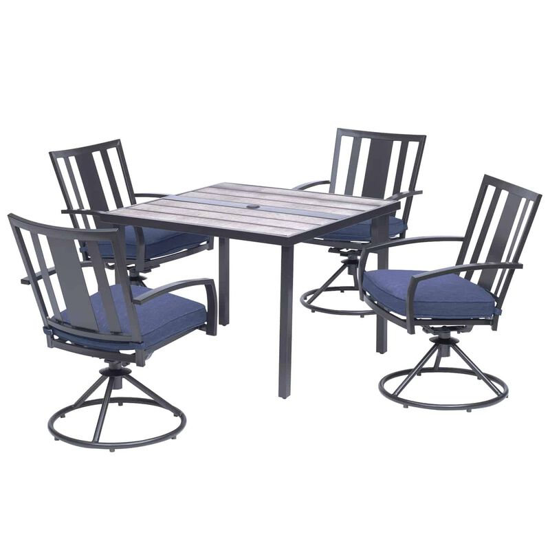 Living Accents Waterville 5 pc. Black Steel Dining Patio ... on Living Accents Patio id=12340