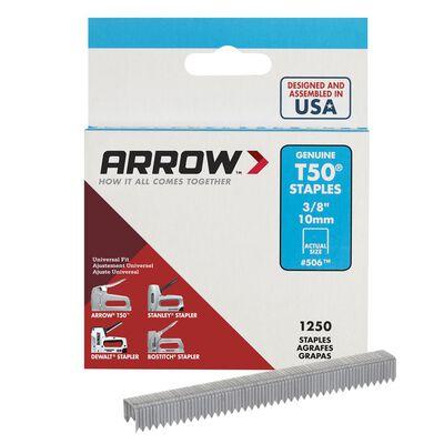 Arrow T50 Wide Heavy Duty Staples Gray 3/8 in. L