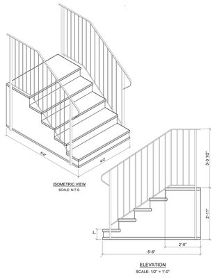 "Concrete Step 5 Tread 7"" stoop"