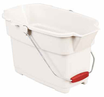 Rubbermaid 14 qt. Rectangular Roughneck Bucket Bisque