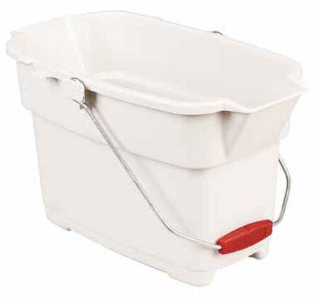 Rubbermaid 14 qt. Rectangular Roughneck Bucket Bisque
