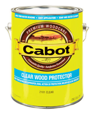 Cabot Clear Water-Based Wood Protector Clear 1 gal.