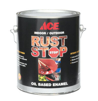 Ace Interior/Exterior Rust Stop Oil-based Enamel Paint Medium Gray Gloss 1 gal.