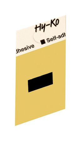 Hy-Ko Self-Adhesive Black 1-1/2 in. Aluminum Special Character Hyphen