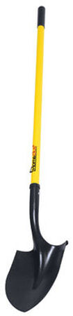 Home Plus 11 in. L x 8 in. W x 47 in. L Long Handle Round Point Shovel Fiberglass Steel