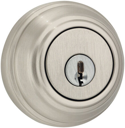 Weiser Satin Nickel Double Cylinder Smart Key Deadbolt 1-3/4 in. For Standard Doors Key: KW1 Gra