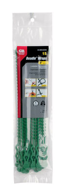 Gardner Bender Beadle Wrap 8 in. L Green Beaded Cable Tie 15 pk