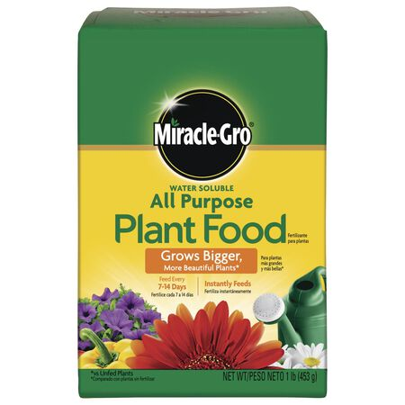 Miracle-Gro All Purpose Plant Food For Plants Flowers Vegetables 1 lb.