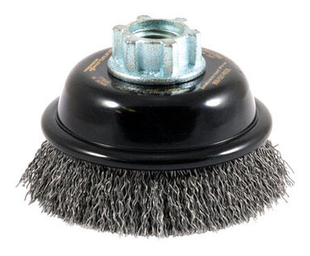 Forney 3 in. Dia. 0.625 Crimped Wire Cup Brush