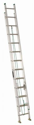24 ft Louisville AE4224PG Aluminum Extension Ladder, Type II, 225 lb Load Capacity