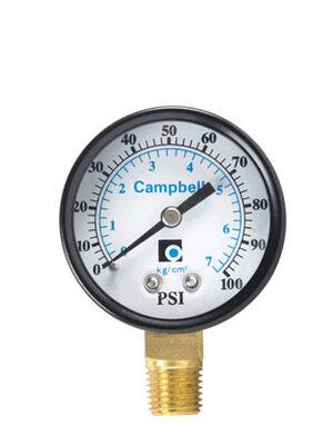 Campbell 2 in. 0 psi 100 psi Pressure Gauge