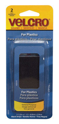 Velcro 3-1/2 in. L x 1-1/2 in. W Hook and Loop Fastener 2 pk