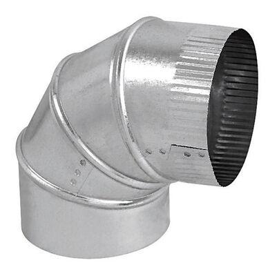 Deflect-O Jordan 4 in. Dia. x 90 deg. L Aluminum Elbow
