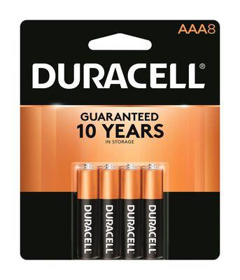 Duracell Coppertop AAA Alkaline Batteries 1.5 volts 8 pk