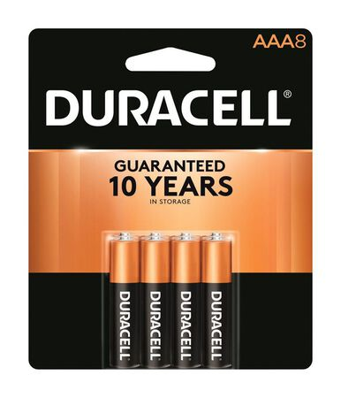 Duracell Coppertop AAA Alkaline Batteries 1.5 volts 8 pk
