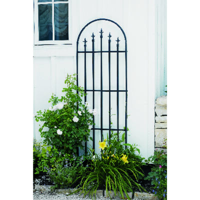 Panacea Black Steel Garden Fence 80 in. H x 24 in. L